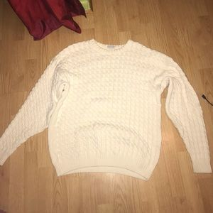 nordstrom white knit sweater